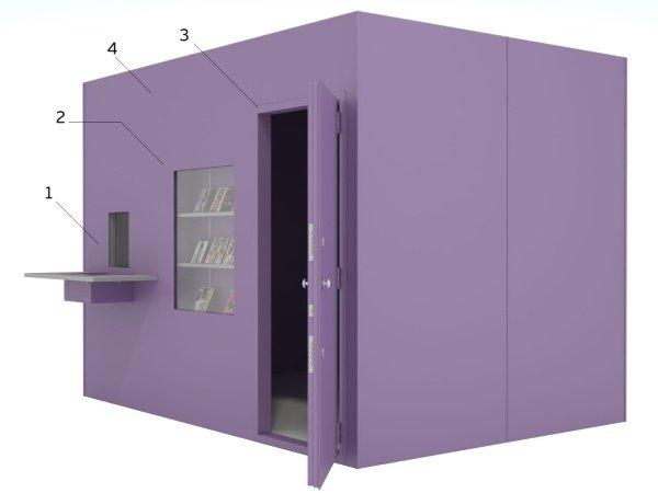 сейфовая комната в ломбарде