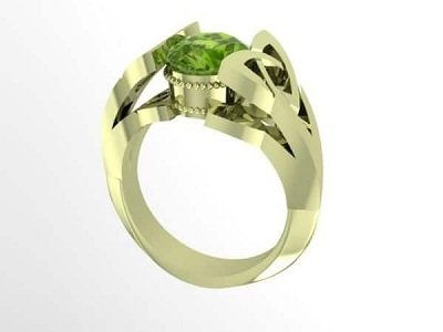 кольцо из зеленого золота